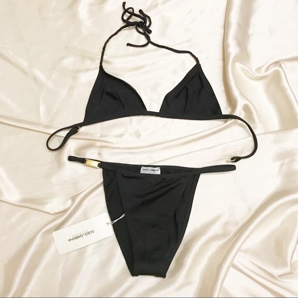 8ba75b32f0 New Dolce   Gabbana black string bikini